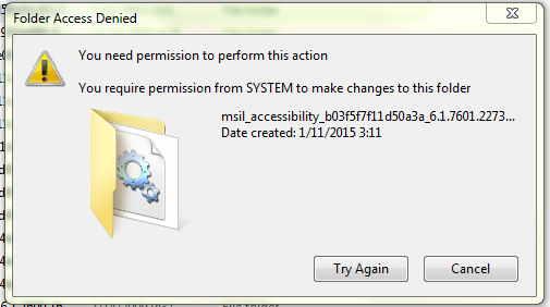 "Cara Mengatasi Error "" Folder Acces Danied"" Saat delete"