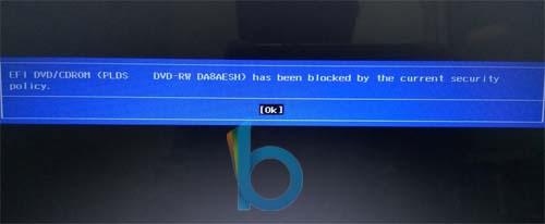 Cara Memperbaiki Error Efi Dvd Cdrom Has Been Blocked By The Current