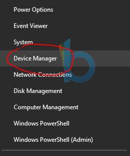klik kanan pilih device manager