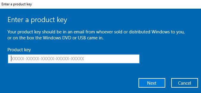 serial number windows 10